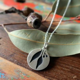 Small Gum Leaf Pendant
