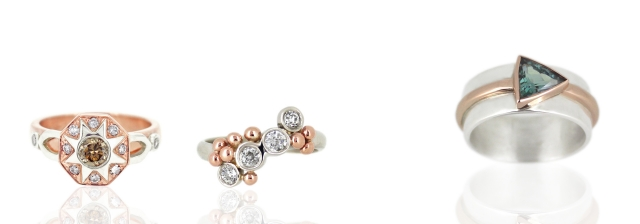 Rings in Rose Gold and White Gold