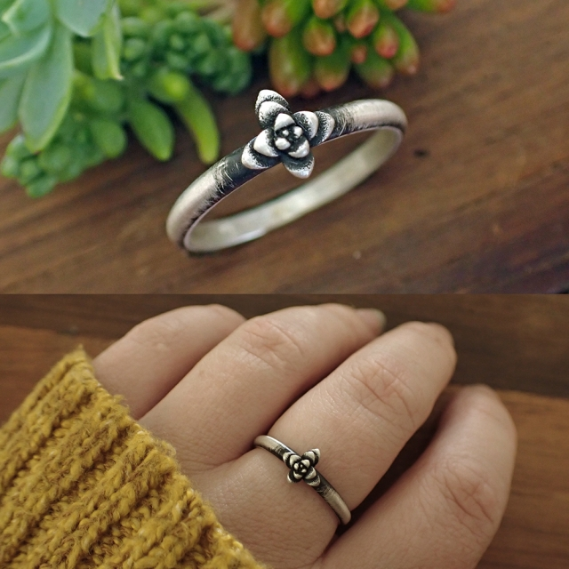 Tiny Succulent Ring