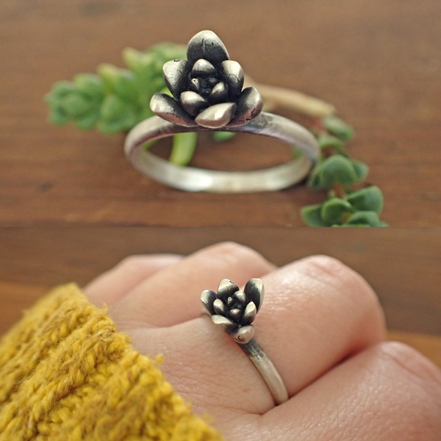 Triangle Succulent Ring2